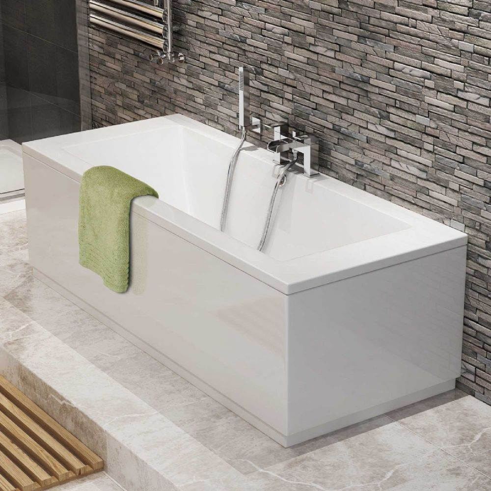 AquaSoak 1700 x 700 Double Ended Straight Bath ( square )